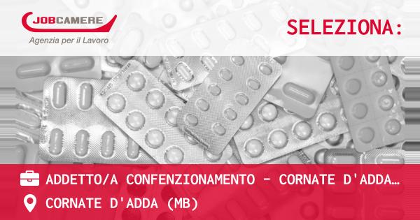 OFFERTA LAVORO - ADDETTO/A CONFENZIONAMENTO - CORNATE D'ADDA (MB) - CORNATE D'ADDA (MB)