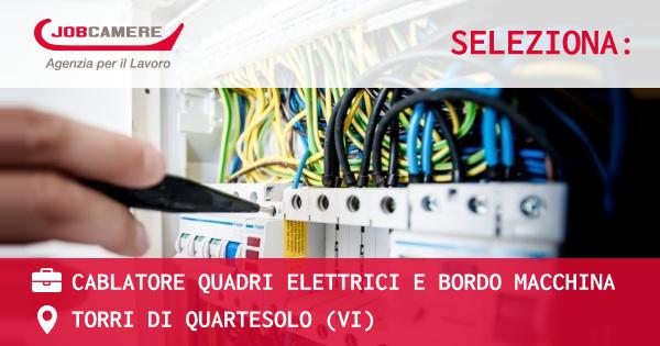 OFFERTA LAVORO - Cablatore quadri elettrici e bordo macchina - TORRI DI QUARTESOLO (VI)