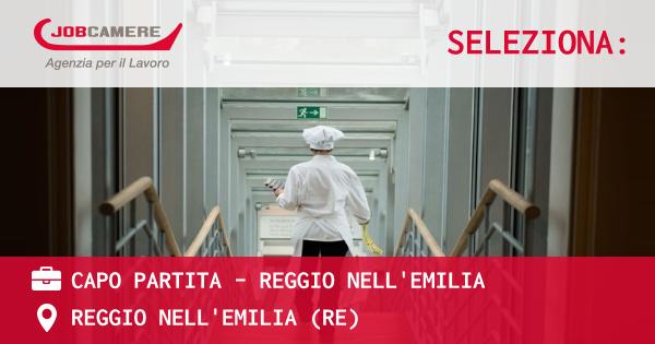 OFFERTA LAVORO - CAPO PARTITA - REGGIO NELL'EMILIA - REGGIO NELL'EMILIA (RE)