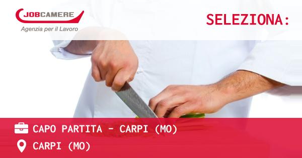OFFERTA LAVORO - CAPO PARTITA - CARPI (MO) - CARPI (MO)